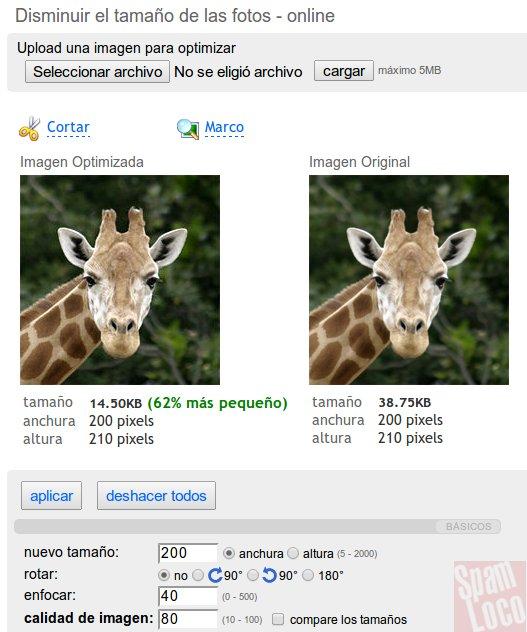 aplicacion online que reduce imagenes