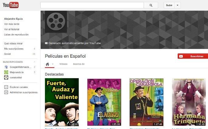 peliculas en español en youtube