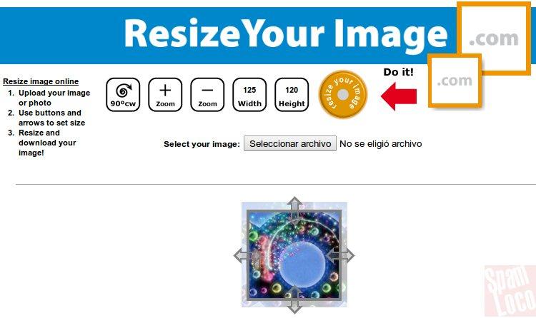 resize image herramienta online