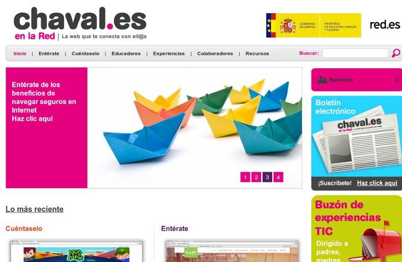 sitio web chavales