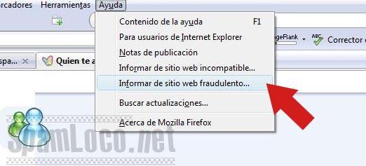 denunciar phishing en firefox
