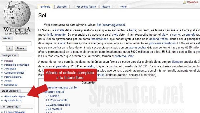 crear pdf con la wikipedia