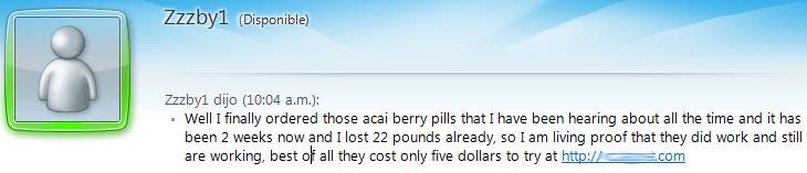 chat spam en MSN
