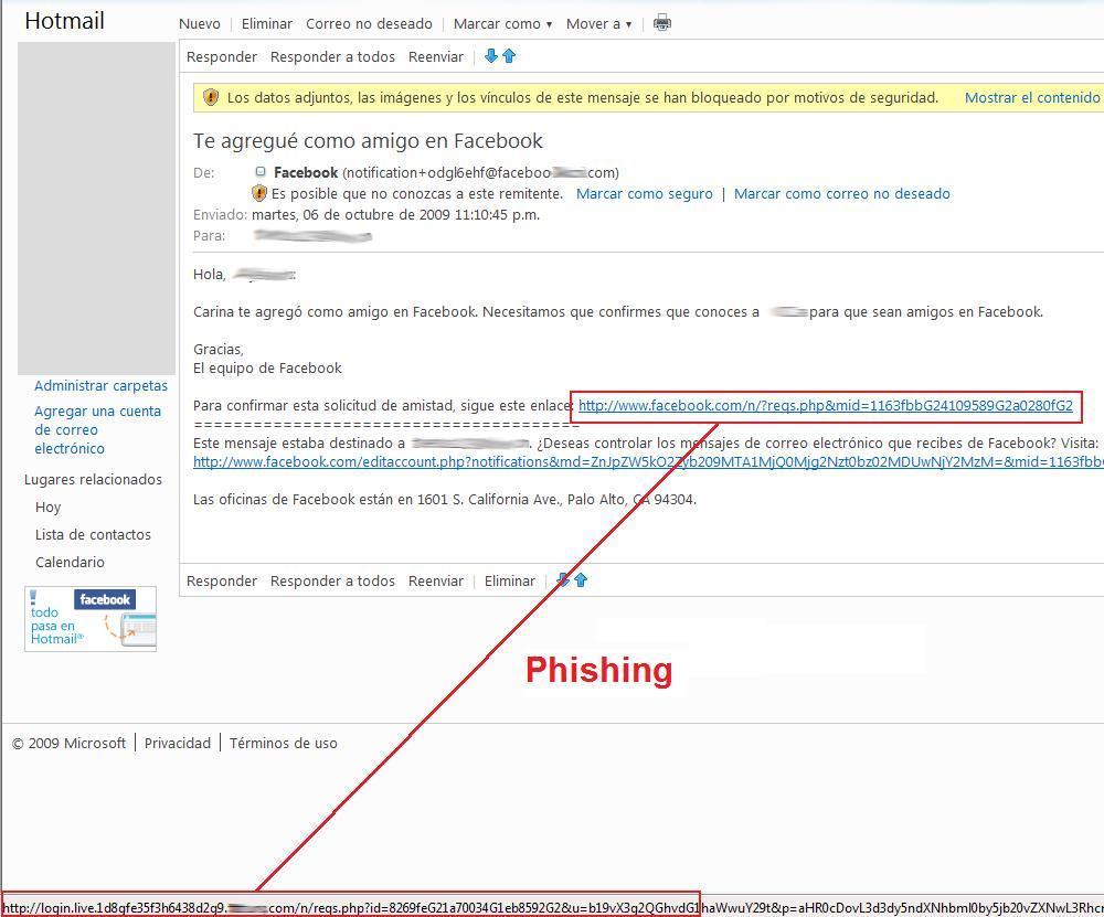Correo falso o phishing