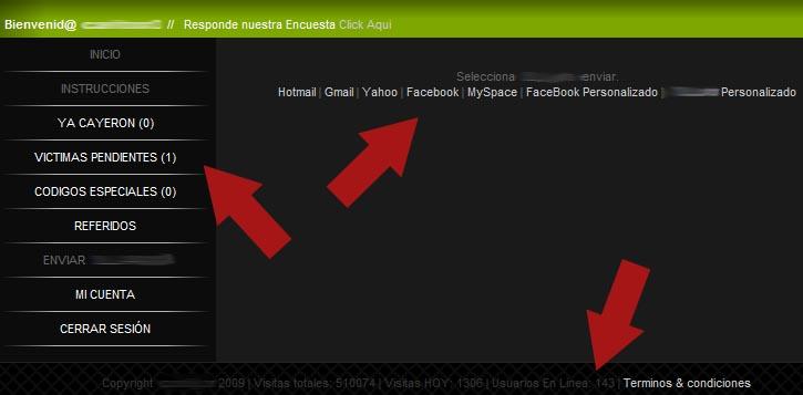 servicio que permite crear phishing