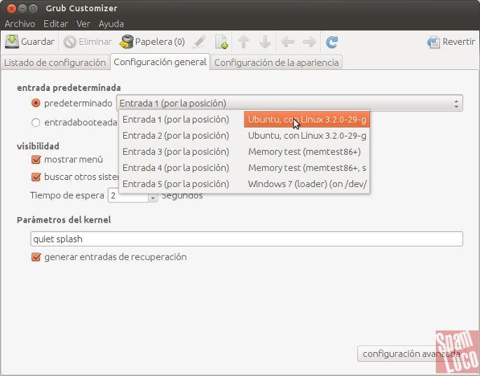 editar grub en linux