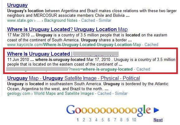 resultado infectado en google