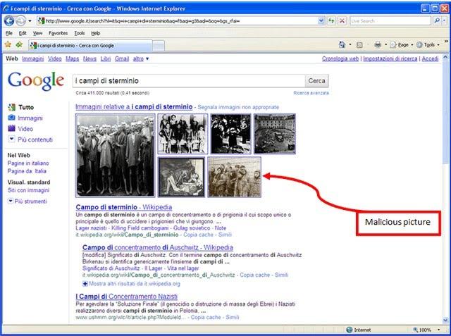resultado de imagen en google lleva a pagina infectada