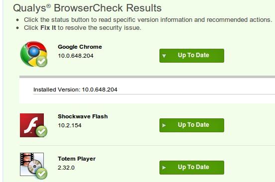 herramienta Qualys BrowserCheck