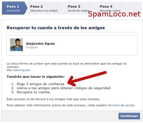 facebook recuperar contraseñas