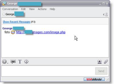 link spam en chat