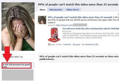 usuarios pagina video falso