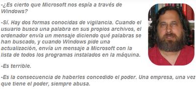 Stallman Microsoft nos espía