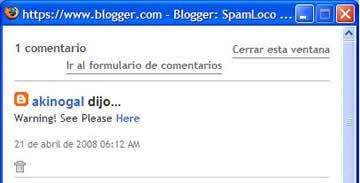 comentario spam