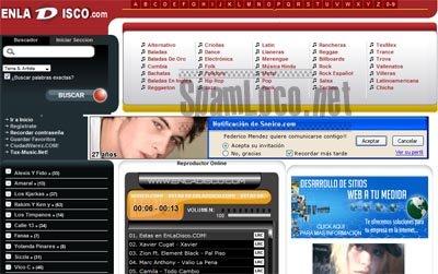 web en la disco