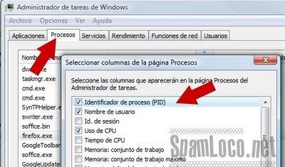 administrador de windows PID