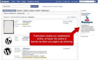 Publicidad falsa facebook