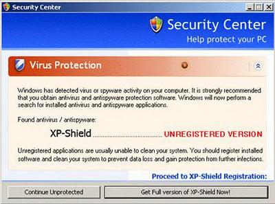 XP-Shield falso limpiador