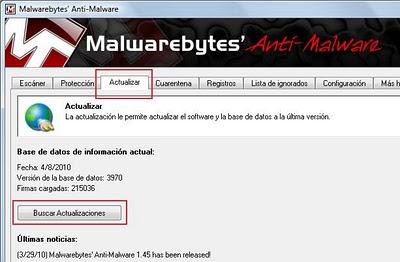 actualizar malwarebytes