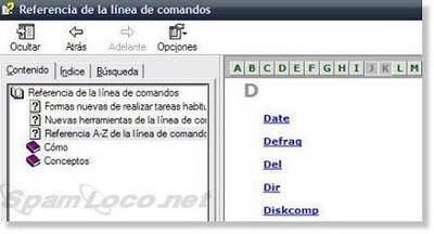comandos_xp