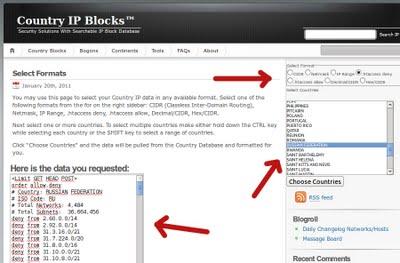 bloqueando ip