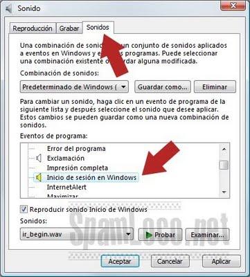 cambiar sonido inicio de windows