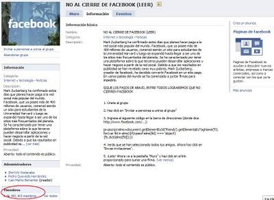 cierre facebook