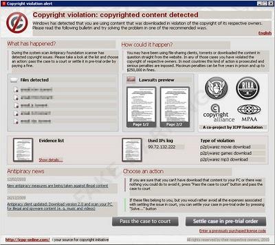 alertas copyright