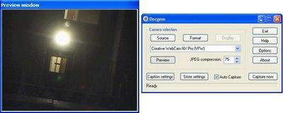 programa dorgem para vigilancia por webcam
