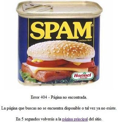 error 404 spam
