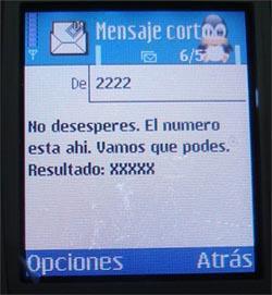 sorteo sms 2222