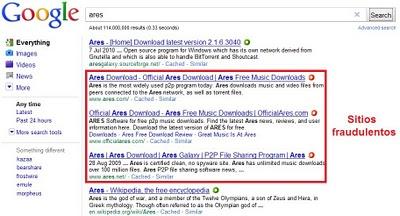 ares en google