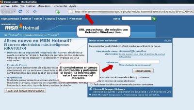 Phishing de Hotmail