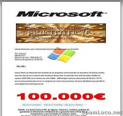 loterial microsoft estafa