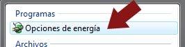 Opciones energía