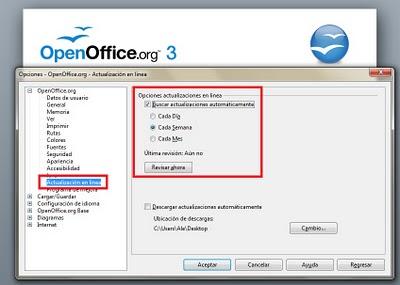 actualizar openoffice