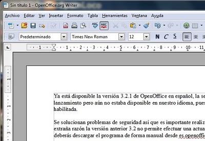 editor de texto openoffice