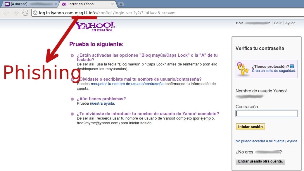 Cuenta Desactivada de Yahoo! cuidado con el phishing