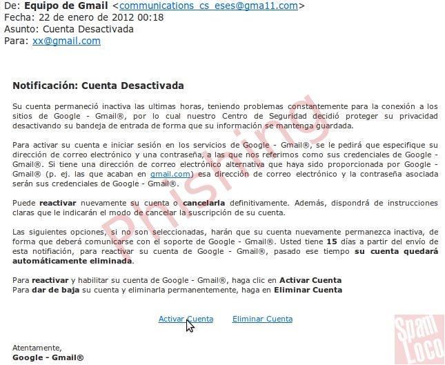 Dos Ejemplos De Phishing Hotmail Y Gmail 2012 Cuidado