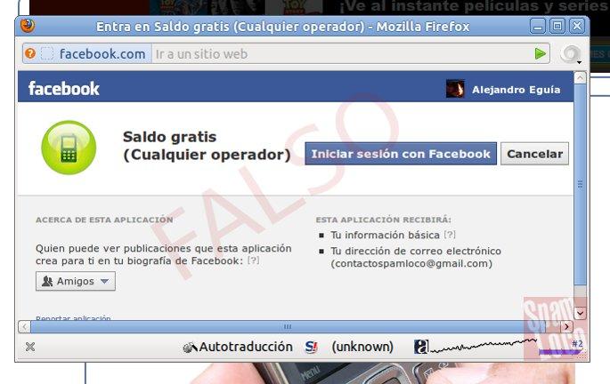 aplicacion saldo gratis en facebook es falsa