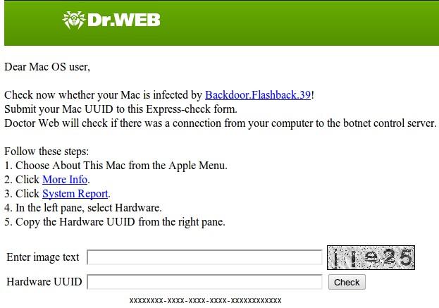 verificar mac Flashback botnet herramienta