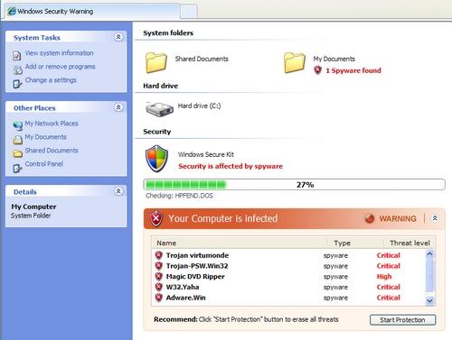 analisis falso antivirus en pagina web