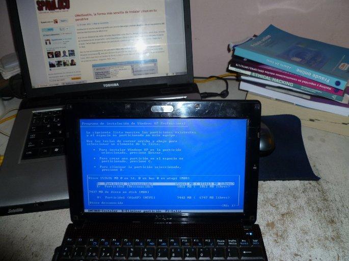 xp instalar en netbook desde pendrive