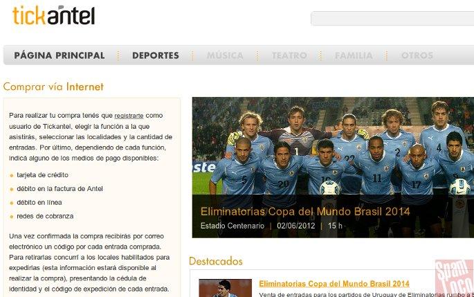 Tickantel compras por internet uruguay