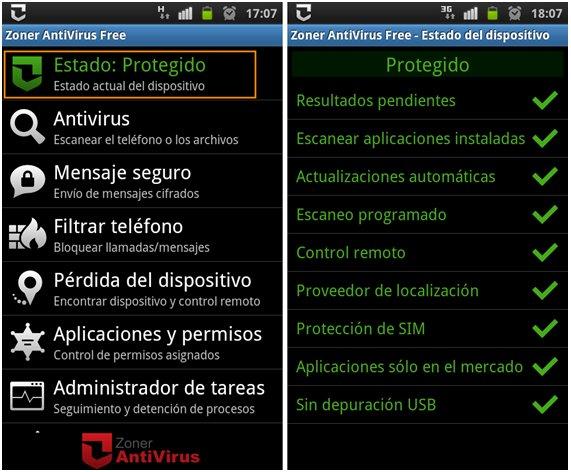 Zoner AntiVirus Free android