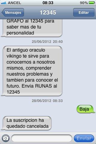 baja 12345 sms