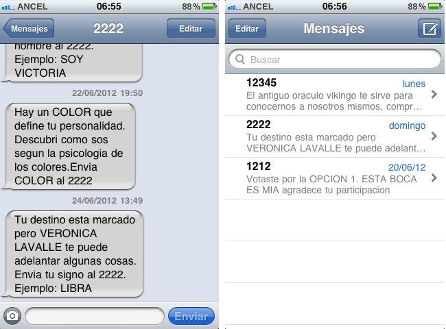 sms 12345 2222 promociones