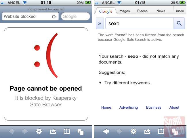 SafeBrowser navegador con filtros para moviles