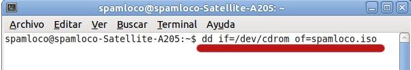 comando dd en ubuntu para crear iso