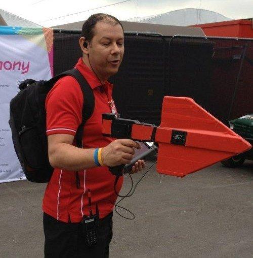 antena direccional controlando wifi en olimpiadas